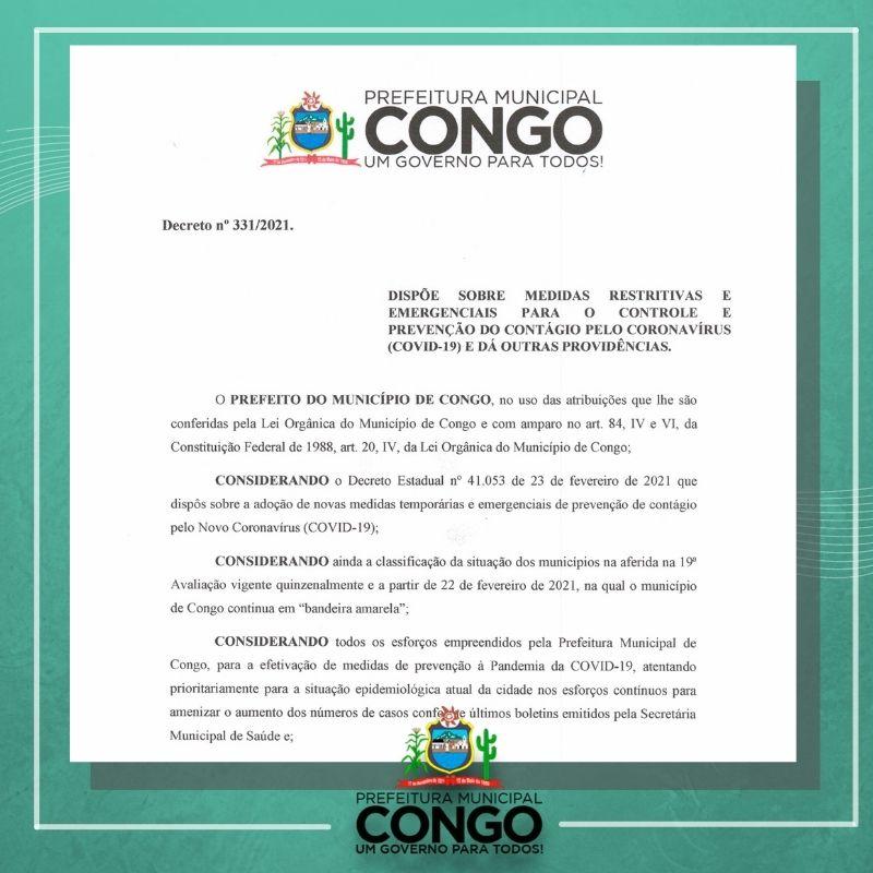 Prefeitura publica decreto com medidas mais restritivas de combate ao Covid-19