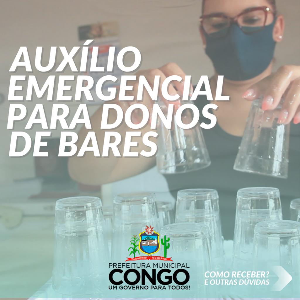 Prefeitura lança edital para auxílio emergencial para beneficiar donos de bares