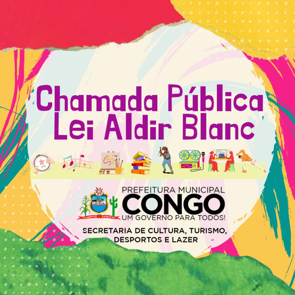 Prefeitura publica Edital da Lei Aldir Blanc
