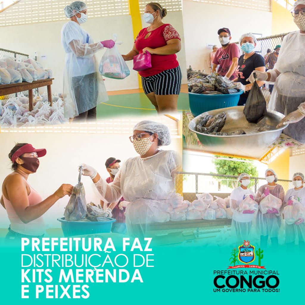 Prefeitura realiza distribuição de peixes da semana santa e kits de alimentação escolar