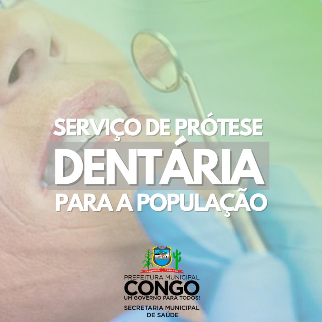 Serviço de prótese dentária para a população