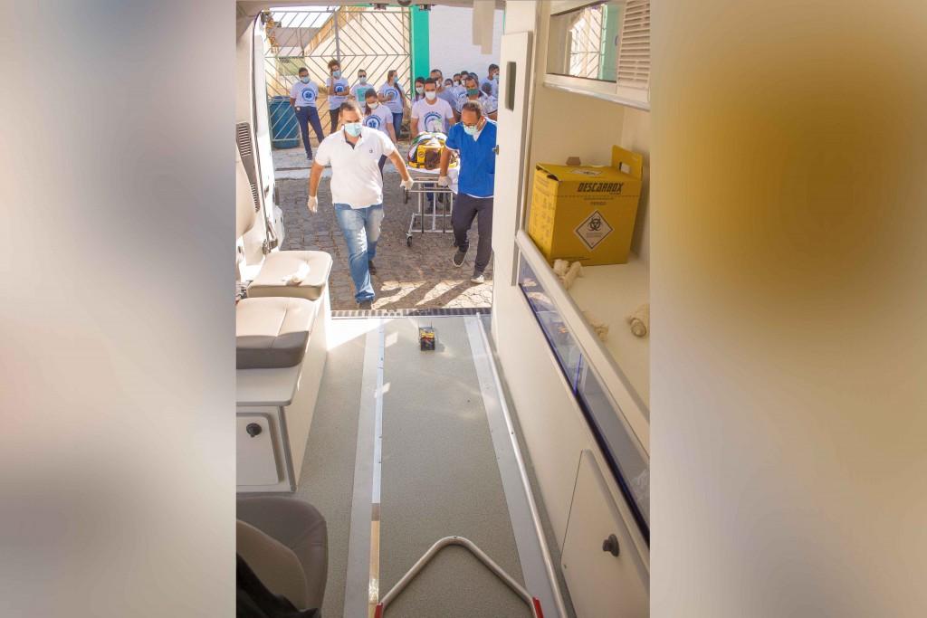 Curso de Atendimento Pré-Hospitalar - APH encerra com simulação de salvamento