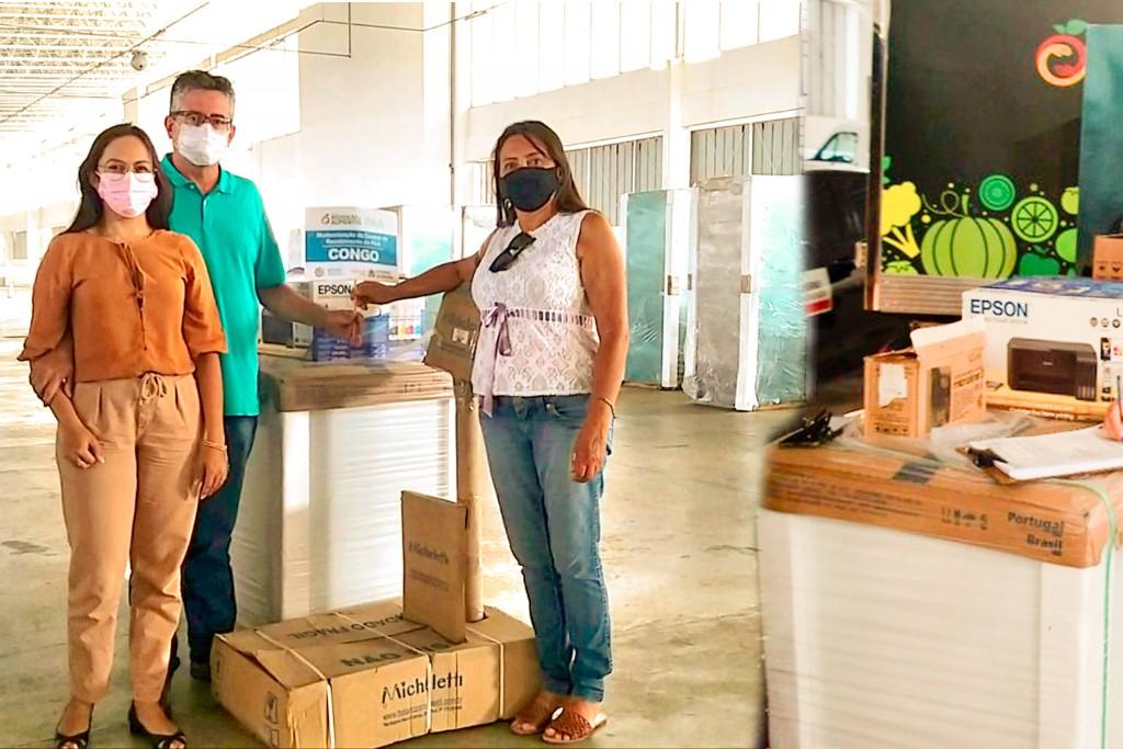 Prefeito Romualdo Quirino recebe kit para modernização do Programa de Aquisição de Alimentos - PAA