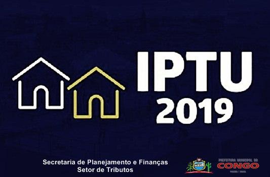 Prefeitura do Congo sorteará prêmios para contribuintes que pagarem o IPTU até o dia 31 de dezembro