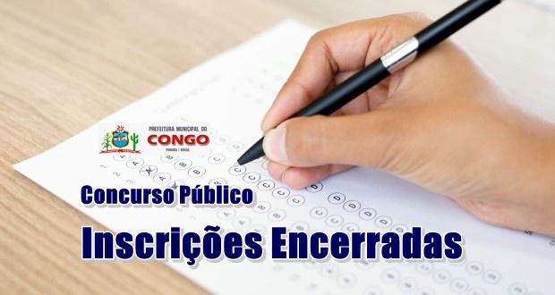 Prazo de inscrições do concurso da Prefeitura do Congo expira e inscritos têm até esta terça-feira 30 para pagar taxa